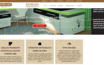 Grafično oblikovanje za spletno stran otroškesobe.com – REFERENCA