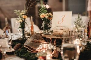 razkošna dekoracija poročne mize