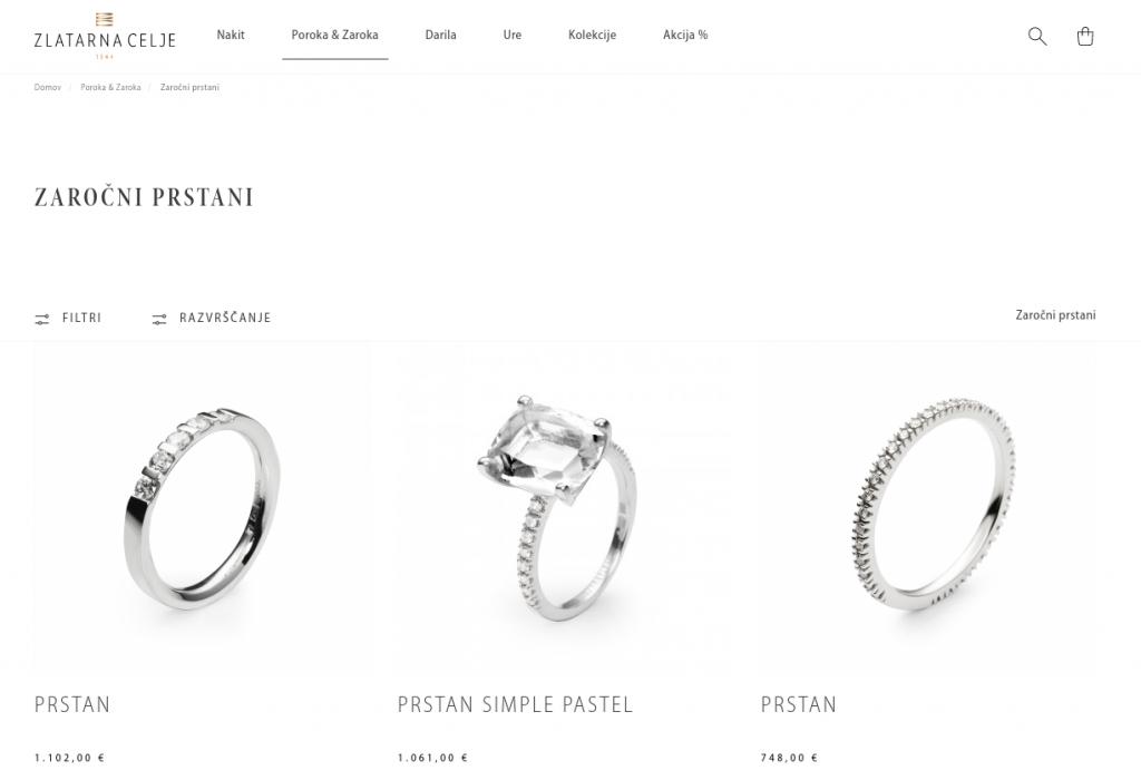 prodaja zaročnih prstanov